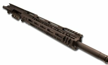 AR-15 Black Upper Assembly - 16in / .223 | 5.56 / 1:8 / 12in Black TGB M-LOK AR-15 Handguard / Rail with M-LOK Rail Attachment / NO BCG
